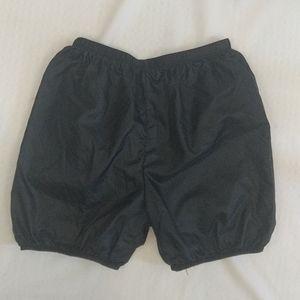 Body Wrappers Trash Bag Black Shorts